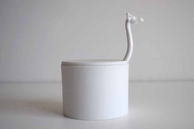 Giraffe Suger Basin in Porcelain