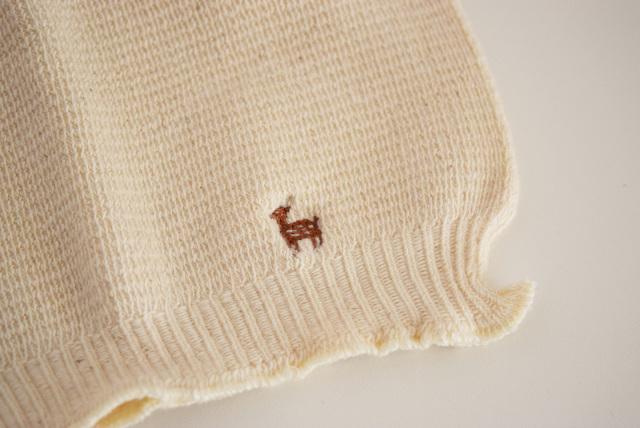 鹿の子編みの腹巻き