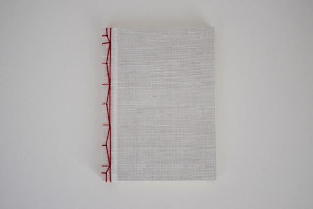 手織り麻の和綴じご朱印帳
