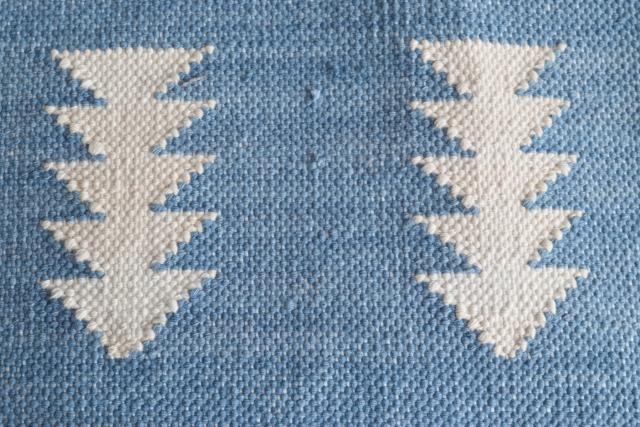 Fine Cotton Indigo Rug