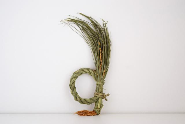 根付藁稲穂飾り 日の出