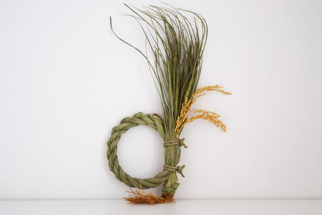 [INAKEN]根付藁稲穂飾り 日の出