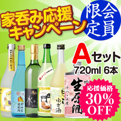 家呑み応援 Aセット 720ml×6本【送料無料】