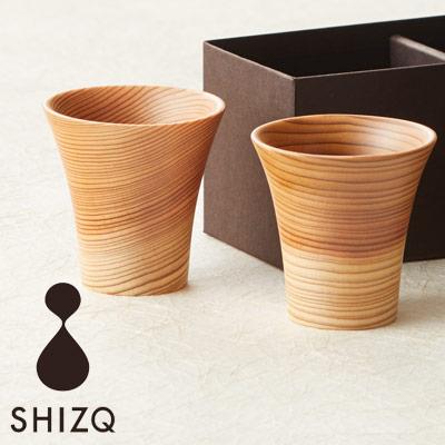 SHIZQ 鶴 ぐい呑み 2個組