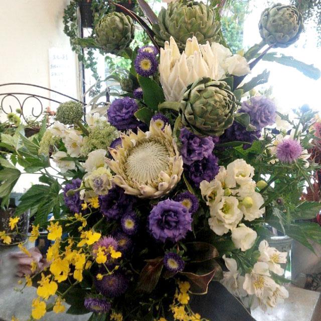 公演祝い お花 楽屋花 アレンジメント ネイティブフラワーイーダ