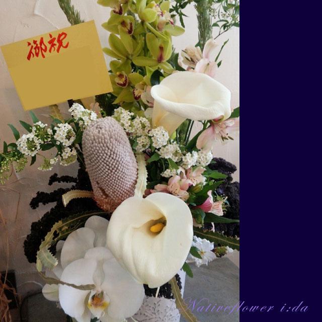 開店祝い お花 アレンジメント 二子玉川の花屋ネイティブフラワーイーダ