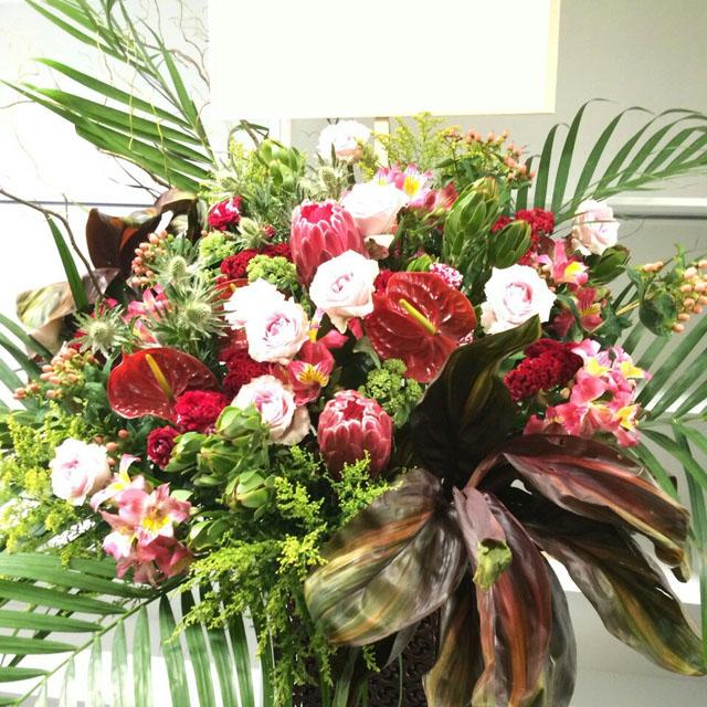 開店祝いスタンド花 周年祝い花 開業祝い花 ネイティブフラワーイーダ