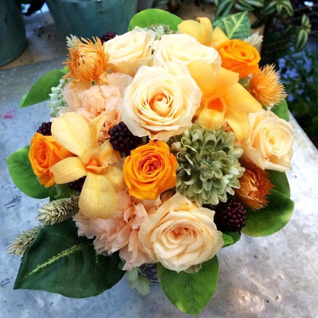 お祝い花 プリザーブドフラワー 誕生日祝い 開店祝いの花 ネイティブフラワーイーダ