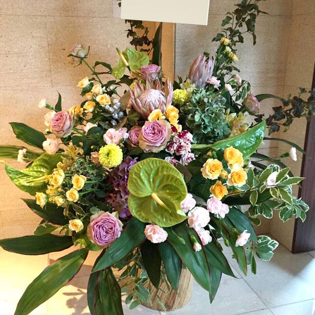 公演祝い 花 楽屋花 二子玉川の花屋 ネイティブフラワーイーダ