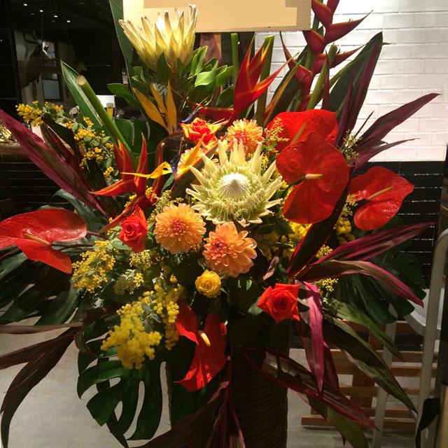 お祝いスタンド花 開店祝い お花 東京 二子玉川の花屋 ネイティブフラワーイーダ