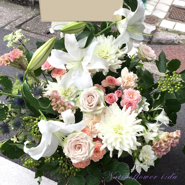 誕生日祝い お祝い花 アレンジメント 東京花屋 ネイティブフラワーイーダ