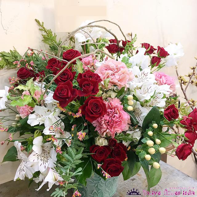 二子玉川の花屋ネイティブフラワーイーダ アレンジメント
