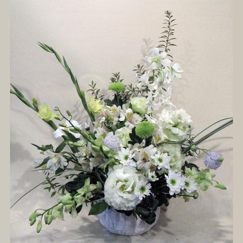 グリーンピンポンマムのお供え花
