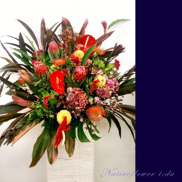 公演祝い スタンド花 ネイティブフラワーイーダ 二子玉川の花屋