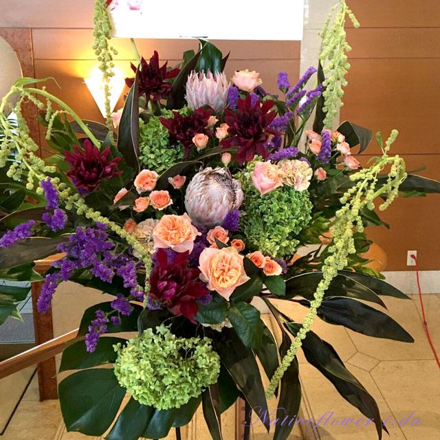公演祝いスタンド花 東京 舞台花 二子玉川の花屋ネイティブフラワーイーダ