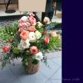 開店祝いに贈る花 アレンジメント ピンク バラ 二子玉川の花屋