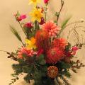 開店祝いの花 アレンジ装花 二子玉川の花屋 ネイティブフラワーイーダ