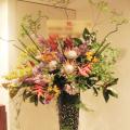 フラミンゴ お祝いスタンド花 公演祝い花 東京 ネイティブフラワーイーダ