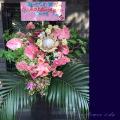 ピンクのスタンド花 公演祝い 楽屋花 プロテア 芸能人へ贈る花