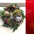 クリスマスリース オリジナルデザイン 二子玉川の花屋ネイティブフラワーイーダ