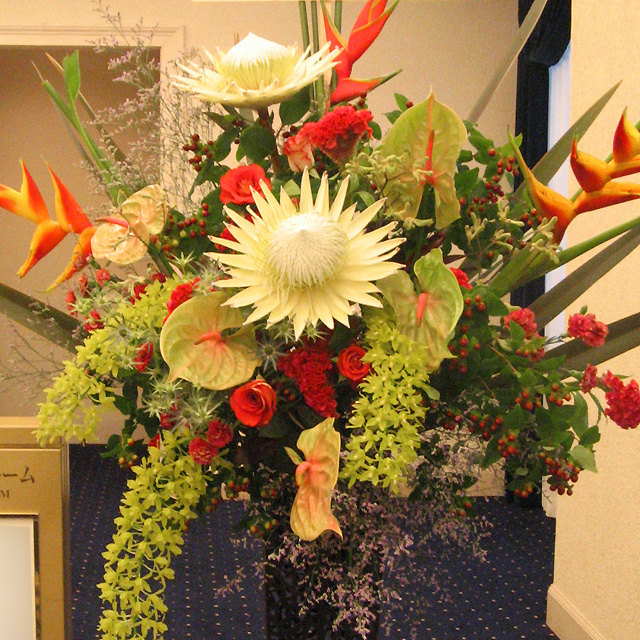 公演祝いスタンド花 出演祝い花 楽屋見舞い花