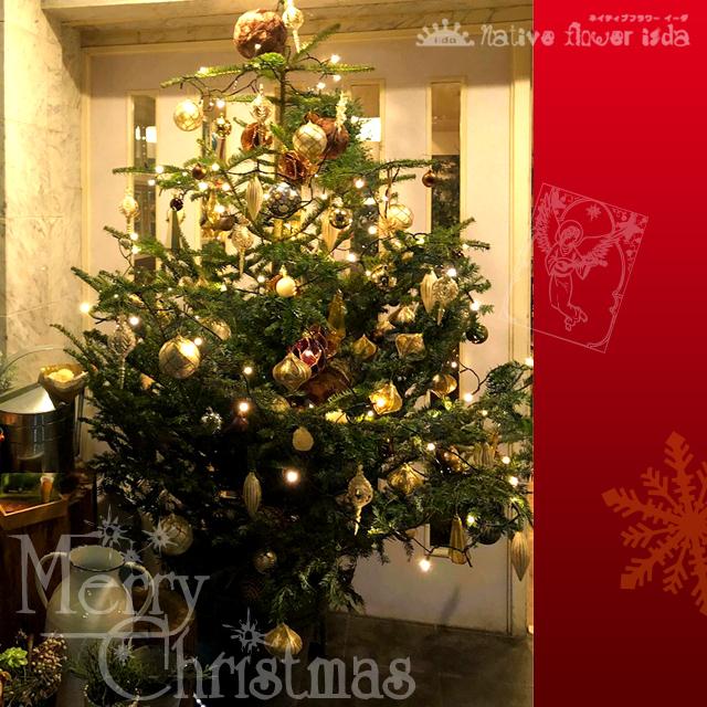 クリスマスツリー オリジナルデザイン 二子玉川の花屋ネイティブフラワーイーダ