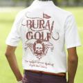 [BURAI GOLF] ブライ・ゴルフ トライバルポロシャツ BG−SP013
