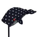 Kinosho Transit 木の庄帆布 クジラ ユーティリティ用 ドット デニム ヘッドカバー Whale Head Cover UT用 Dots Denim KHG18-HC120
