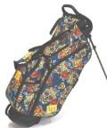 送料無料 LOUDMOUTH  Golf Bag  ラウドマウス  スタンドバッグ 8.5インチ LM-CB0010 218 ロサ スカル (Rosa Skulls)  Loudmouth キャディバッグ 軽量