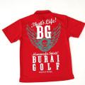 [BURAI GOLF] ブライ・ゴルフ BGドライスカルポロシャツ BG-SP0018