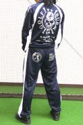 送料無料 [BURAI GOLF] ブライ・ゴルフ ジャージ トレーニングウエア 上下セット ネイビー/ホワイト