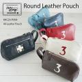 木の庄帆布 オールレザーラウンドポーチ ポーチ KHG20-P05M   木の庄 トランジッド 限定 本革 カートポーチ All Leather #3 Round Pouch