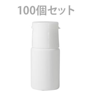 ワンタッチキャップミニ容器 (白) 10ml (100個セット)