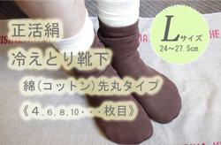 冷えとり靴下4枚目L