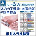 爪ミネラル検査