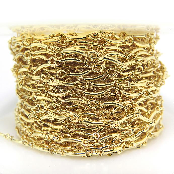 14kgfカーブバーチェーン(10センチ)「ゴールドフィルド」(1本)