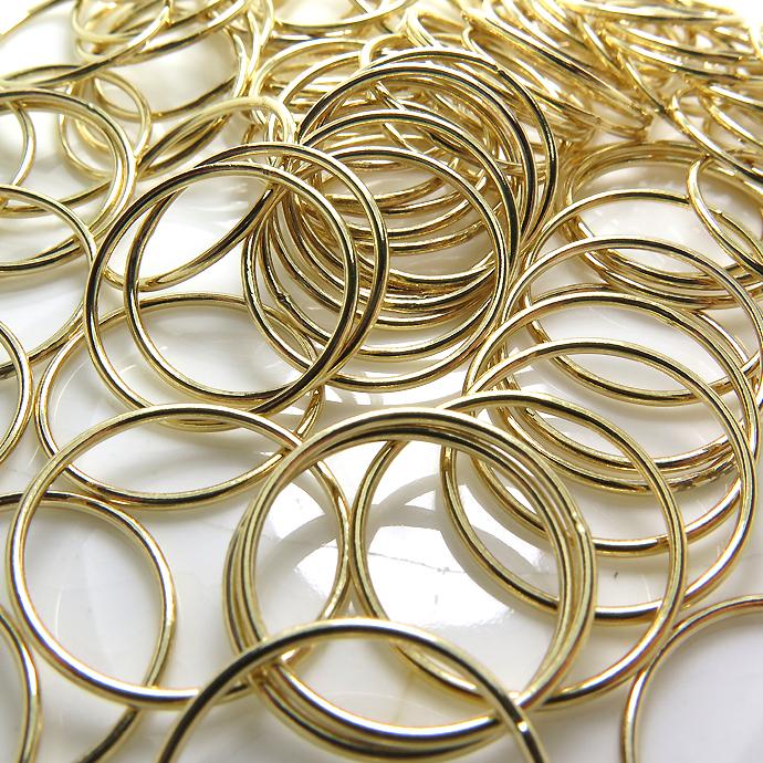 スタッキングリングパーツ(指輪)(サイズ目安:4号)「14kgf(ゴールドフィルド)」(25個)