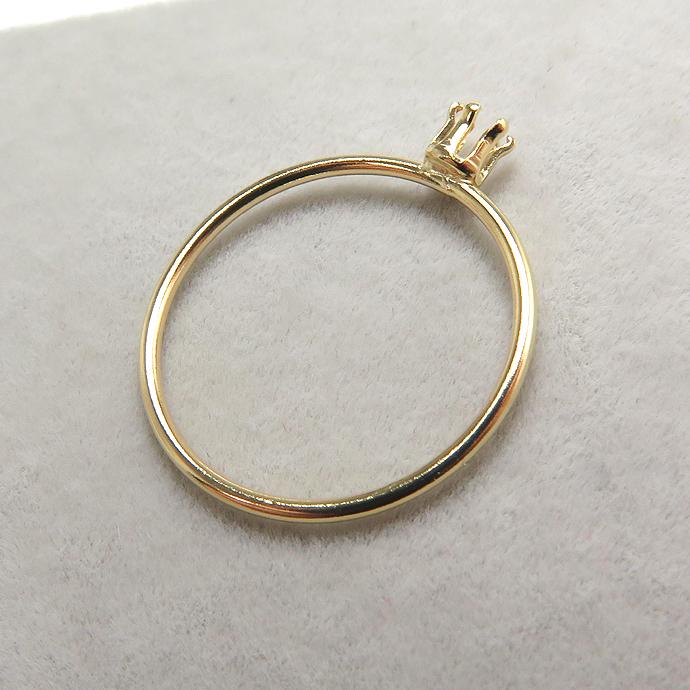 リングパーツ(指輪)空枠3mm(ラウンド)(サイズ目安:10号~11号)「14kgf(ゴールドフィルド)」(1個)