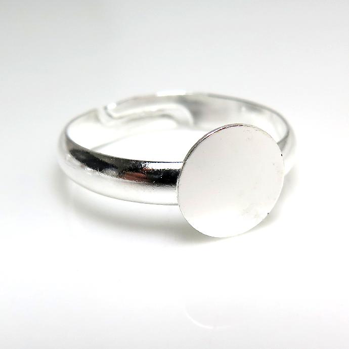 平皿(丸皿)指輪リング台(ラウンド8mm/内径17mm)(真鍮ブラス・シルバーカラー)(20個)