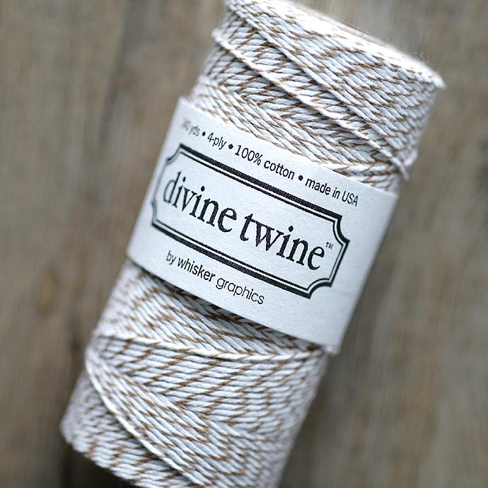 ディバイントワイン/ベーカーズトワイン「コットンコード」「Whisker Graphics社」【ブラウンシュガー】約219メートル(5巻)