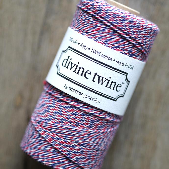 ディバイントワイン/ベーカーズトワイン「コットンコード」「Whisker Graphics社」【トリコロール(エアメール)】約219メートル(5巻)