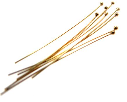 ゴールドフィルド・ボールピン 14kgfパーツ【0.5mm×38mm】(ボール1.5mm)(20本)