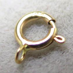 14金イエローゴールド(14K)引き輪/クローズ・タイプ(4.5mm)(1個)