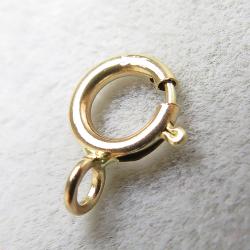 14金イエローゴールド(14K)引き輪/クローズ・タイプ(5mm)(25個)