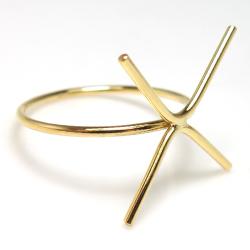 リング 14kgfパーツ 指輪 ラフストーン・タンブル ゴールドフィルド 10mm 4本爪(10mm×4本)(サイズ目安:9号) (1個)