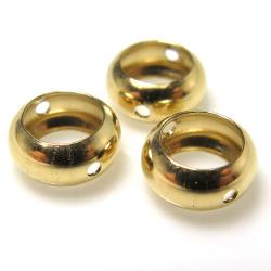 14kgfビーズパーツ 2.3×5.0mm (内径3.2mm) 2ホール ゴールドフィルド(8個)