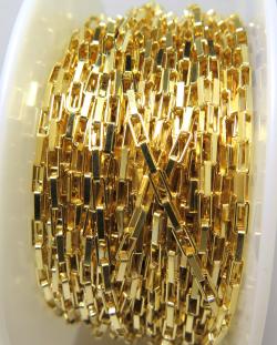 ボックスチェーン 1.9mm 10センチ 14kgf ゴールドフィルド(1本)