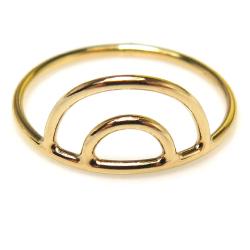 14kgf ダブルアーチリング 指輪(サイズ目安:11号)ゴールドフィルド(1個)