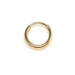 14kgfフープピアス(チューブ/1.25mm)9mm「ゴールドフィルド」1個