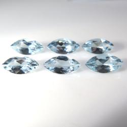 天然石ルース(裸石)アクアマリン(非加熱・ブラジル産)マーキス【8×4mm】ファセットカット(1個)